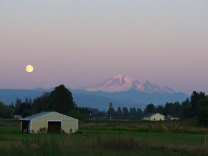"""Moon & Mt. Baker"" by Dan Keusal"