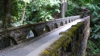 """Stone Bridge, Whatcom Falls"" (Belingham, WA). Photo by Dan Keusal."